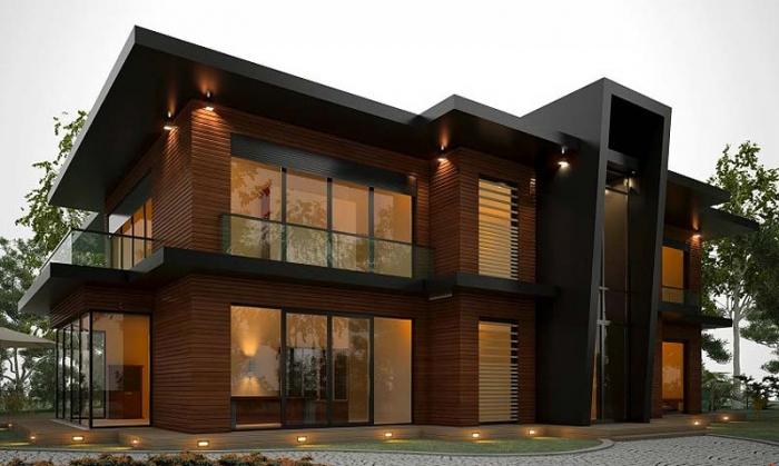 Навесные вентилируемые фасады для малоэтажных коттеджей