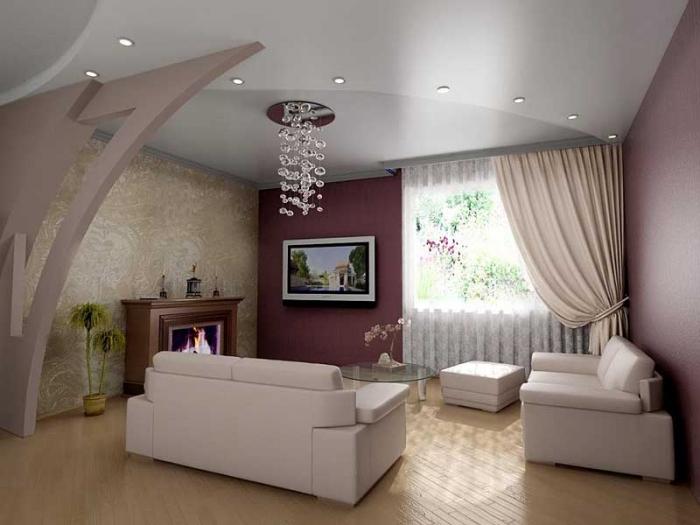 Декоративная отделка стен гипсокартоном