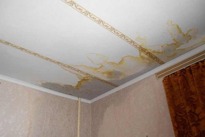 К чему снится потолок протекает во сне по соннику?